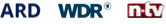 ard, n-tv, wdr logo